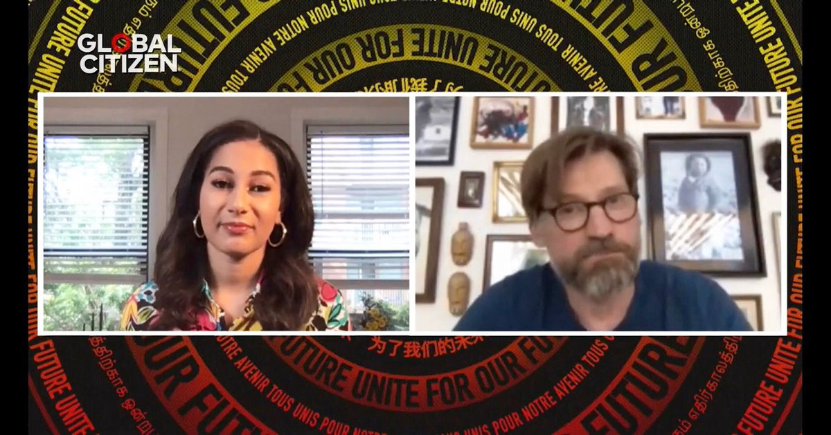 """Join us today for @glblctzn """"Unite For Our Future"""" today! You'll catch my interviews with @nikolajcw, @VinGuptaMD, @MsPackyetti and more! Live streaming now on , on  at 5:30pm and @msnbc at 8pm!"""
