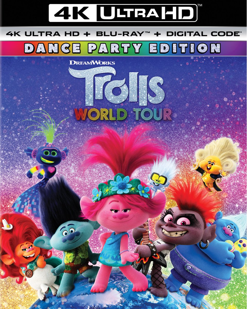 Take a trip with the happiest movie ever made. Follow us + RT to enter to #win a copy of the chart-topping #TrollsWorldTour: Dance Party Edition, coming July 7 to 4K Blu-ray! https://t.co/UMS7FiRE6a