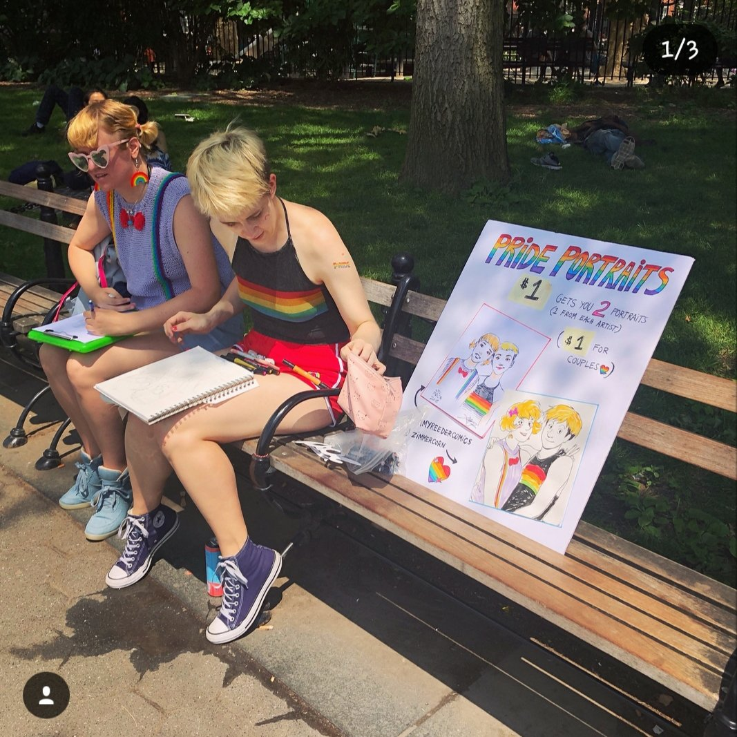 Happy Pride! This was a couple years ago, in Washington Square Park. It was a lot of work but a cute experience.