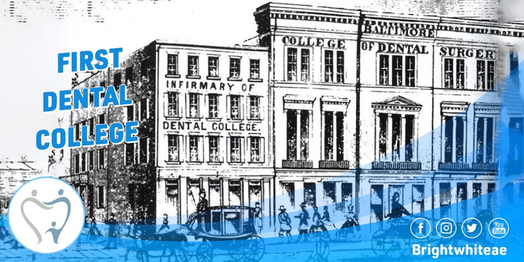 In 1840, the first dental college (Baltimore College of Dental Surgery) opened, establishing the need for more oversight.In the United States  #brightwhiteae #dental #dubai #jumairah #uae #abudabi #hollywoodpic.twitter.com/82XBS0xPAg