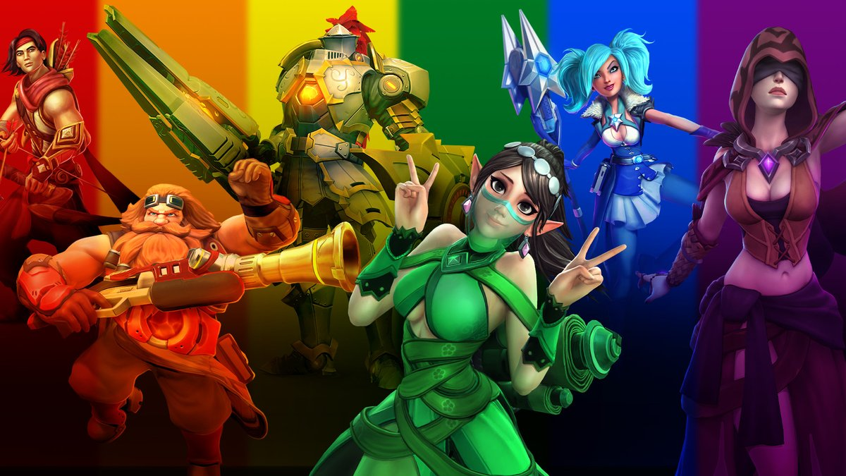 Before Pride Month ends were giving you all 2X Battle Pass XP! For the next 4 days enjoy this while having fun with your friends in the Realm! #PaladinsPride2020