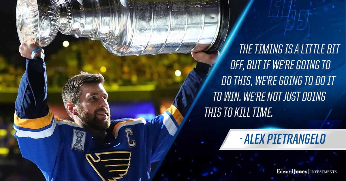 When the playoffs resume, the captain means business. #stlblues