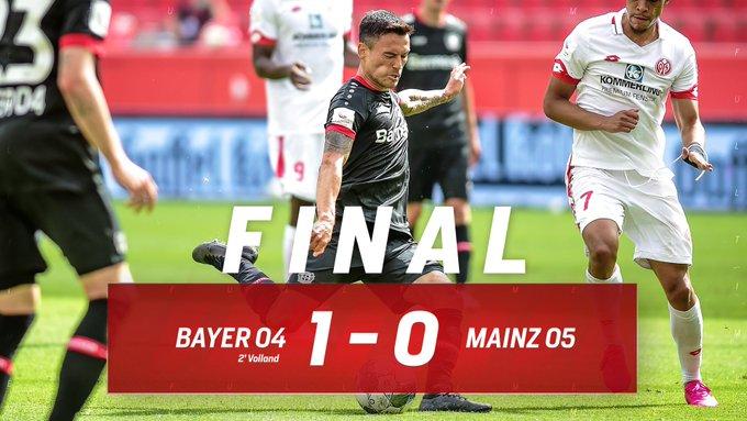 Il risultato finale è Bayer-Mainz 1-0.