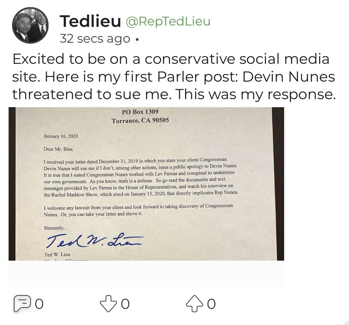 Today I posted my first Parler post. twitter.com/CNBC/status/12…
