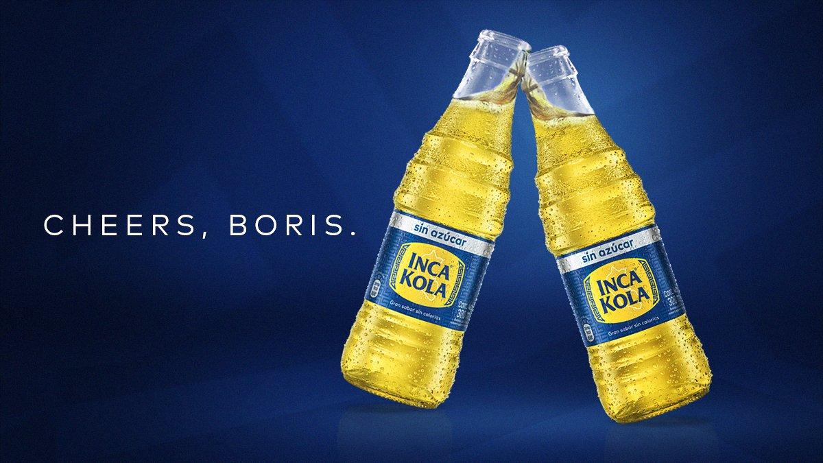 Dear @BorisJohnson working together makes us proud, and that deserves a cheers, with an Inca Kola, obviously. You can find one in @TierraPeru UK @BorisJohnson trabajar juntos nos llena de orgullo y esto merece un brindis, obvio con Inca Kola. Puedes encontrarla en @TierraPeru UK