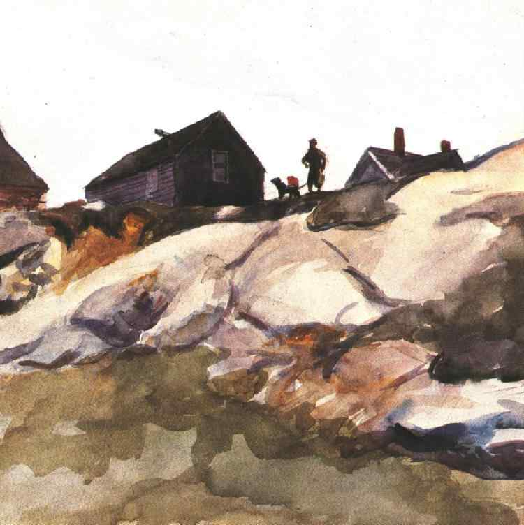 Rocks at the Fort Gloucester, 1924 #hopper #newrealism <br>http://pic.twitter.com/Dze6Hah4Aw