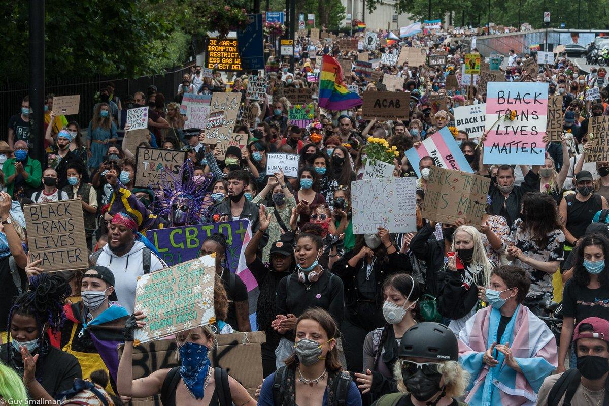 Huge turnout for #BlackTransLivesMatter in #London today