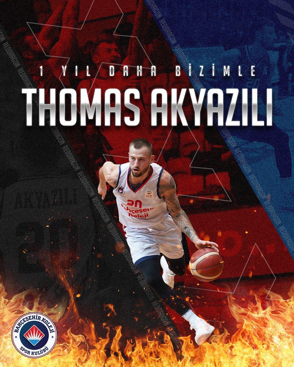 Bu sezon da ING Basketbol Süper Ligi ve EuroCup'ta Thomas Akyazılı ile yola devam 👊🏻🔥🐉 #BizBahçeşehiriz #RedDragons #GoFire @AkyaziliThomas https://t.co/dYv3bO3l1i