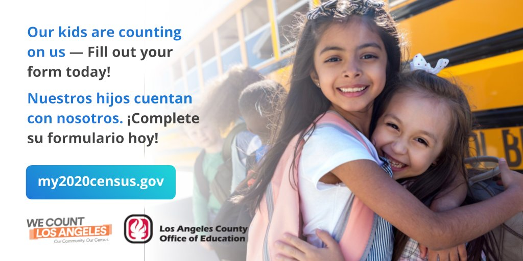 The census is safe, quick and easy! Participating in the 2020 Census will help ensure that our kids receive the resources they deserve for schools, child care and medical services for the next 10 years! Be counted today! my2020census.gov