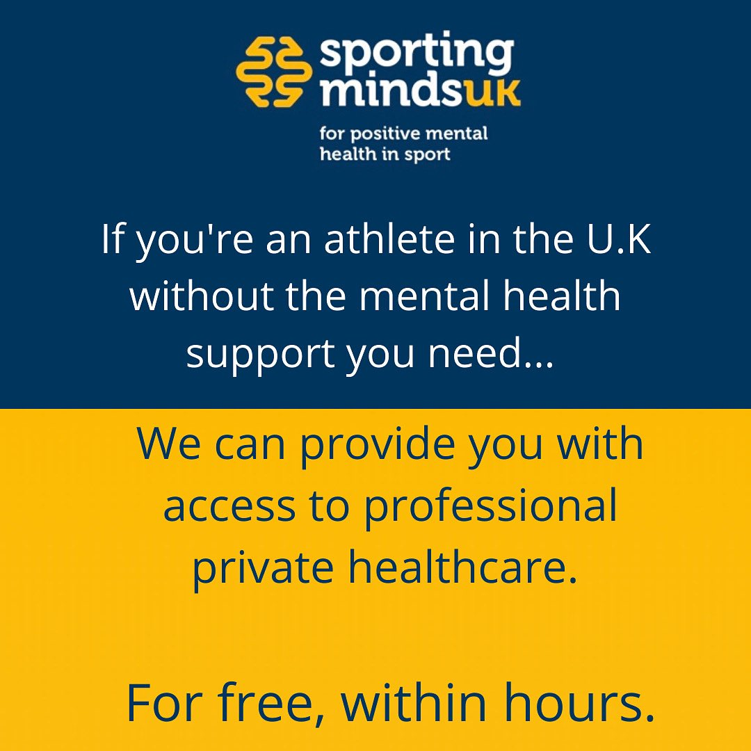 Mental health issues can develop and worsen rapidly.   At Sporting Minds UK, if you need support and meet our criteria,  we aim to give you that support within hours.   Completely free of charge. https://t.co/jEKfFp3poR
