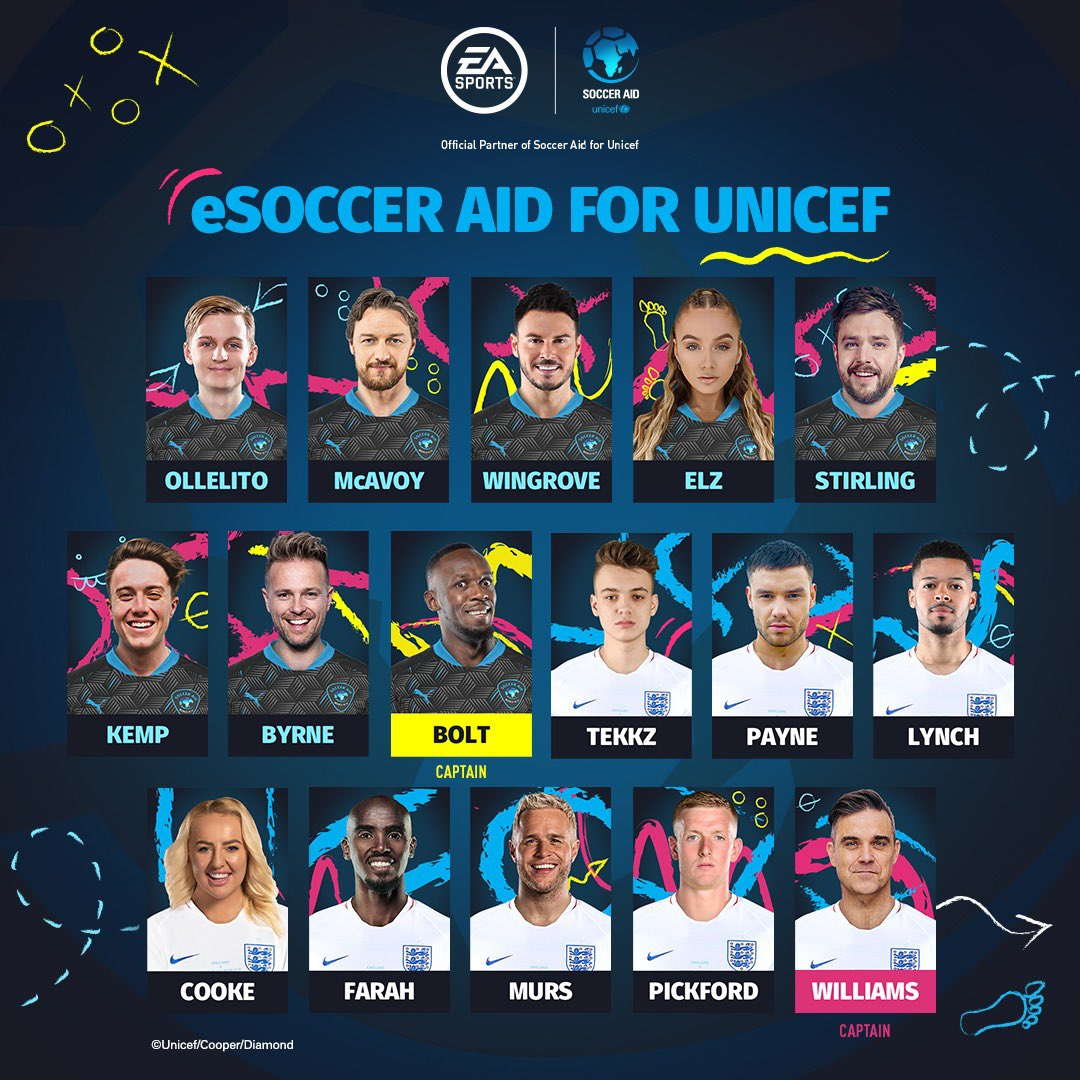 Come on, let's play some FIFA and raise lots of money 🎮😎 Watch me take on @robbiewilliams at 9.25pm UK time 👉 Twitch.tv/easportsfifa @SoccerAid | @Unicef_UK | @DFID_UK | @EASPORTSFIFA