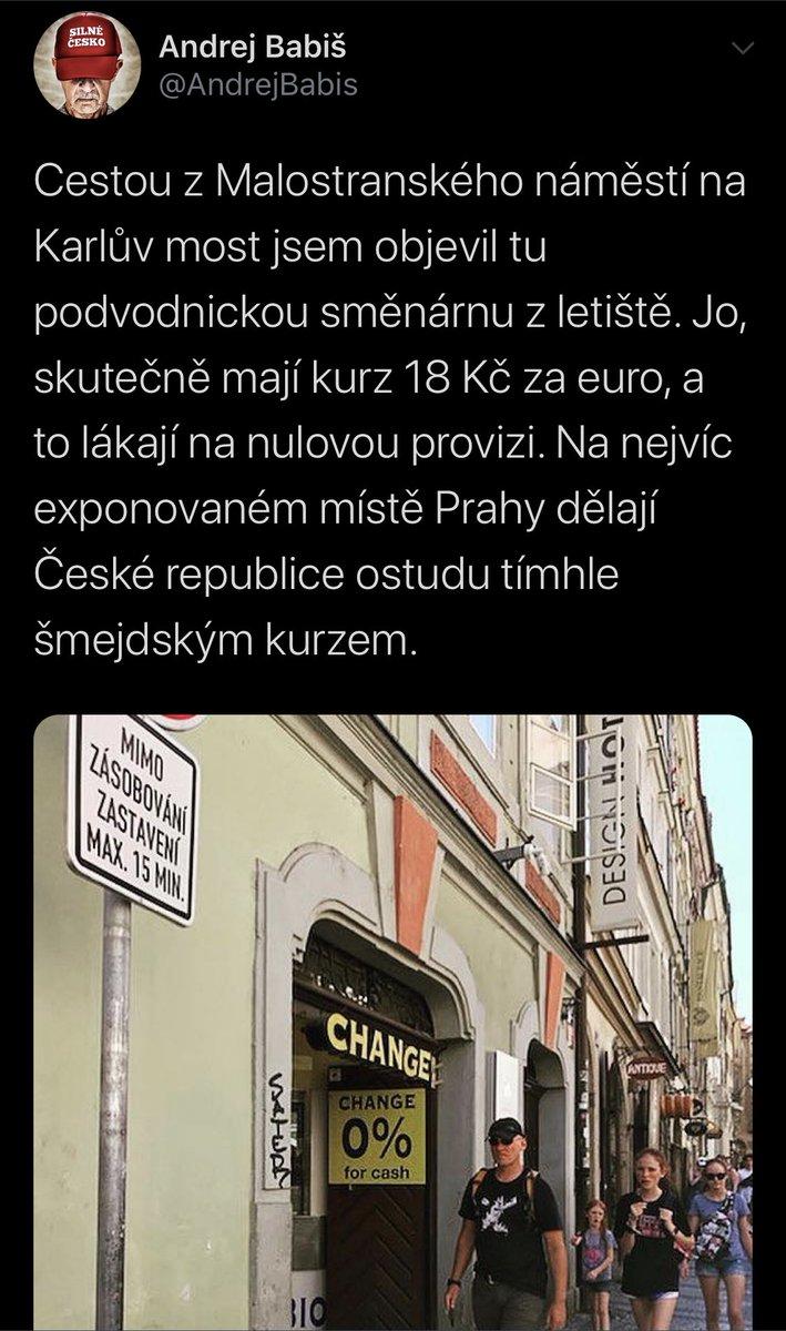 """Pane @AndrejBabis pamatujete jak jste před rokem psal o této """"podvodnické"""" směnárně a sliboval jste, že tam necháte dát ceduli, která by upozornila turisty na to, jaký je realný kurz? Tak ta cedule tam pořád není... Za 1€ tam pořád dostanete 18 Kč."""