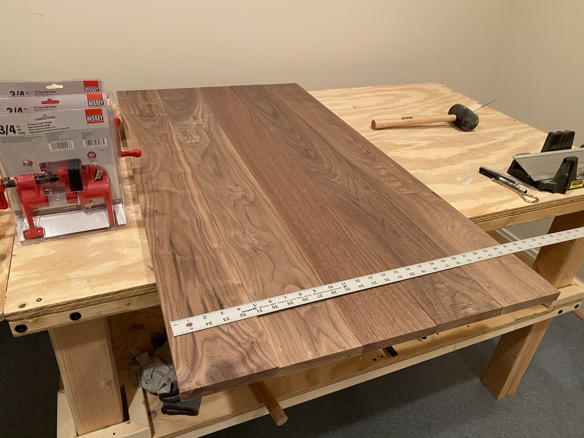Going to make a table for my daughter. Check out the beautiful walnut.