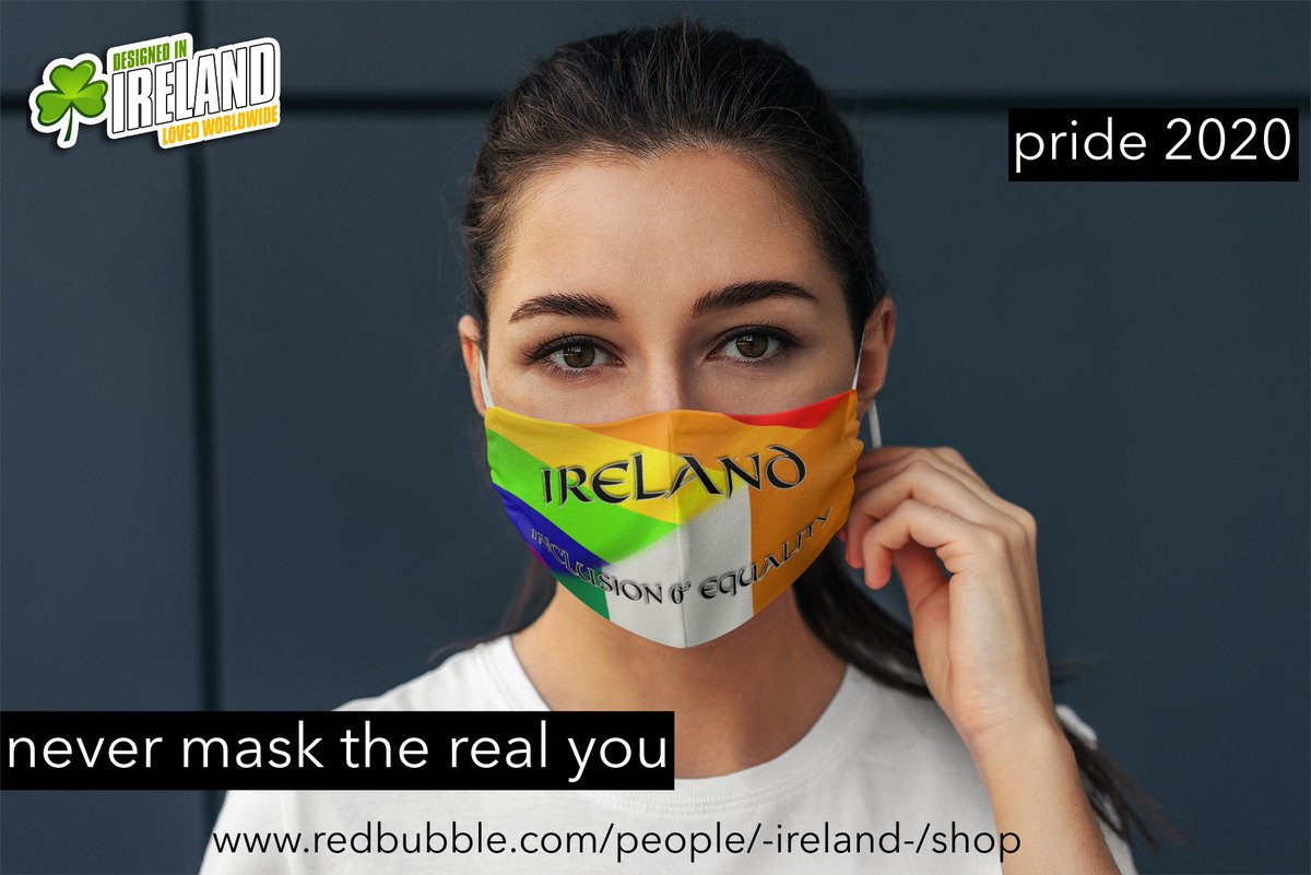 Never Mask the real you. Show your true colours for Pride 2020 . #Wearamask but don't mask who you are, Get yours here - https://t.co/v2s5l9fxGL #PRIDE2020 #irelandpride #DublinPride #belfastpride #irishpride #PrideMonth #EqualityForAll #Equality #galwaypride #limerickpride https://t.co/3q44IlokMb