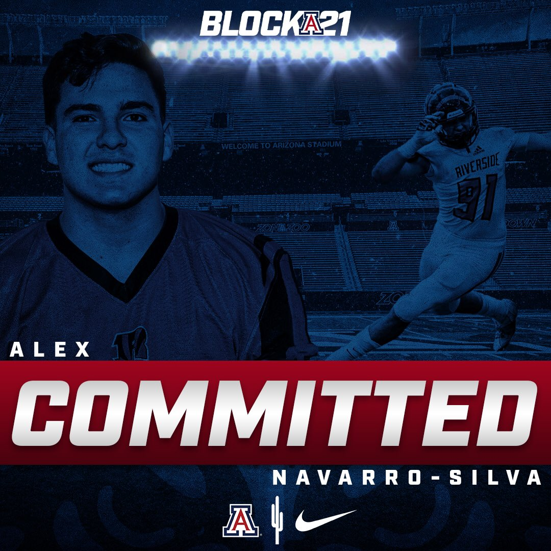 After talking to coach Buh and headcoach Sumlin I have decided to commit to The University of Arizona. Big shout out to the Don Lugo family, and the RCC family. I'm blessed to be in the situation I am in because of my parents and the man up above. #beardown https://t.co/LJZ93kL6gl