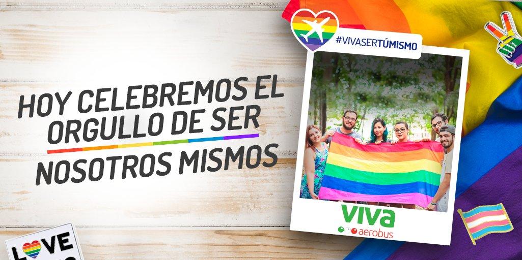 Vivir y expresarnos estando orgullosos de ser quien somos. 💚🌈 Que ser tú mismo, te lleve a volar más alto. ✈️ #VivaSerTúMismo #Pride2020 #Orgullo https://t.co/jTO0nAOveJ