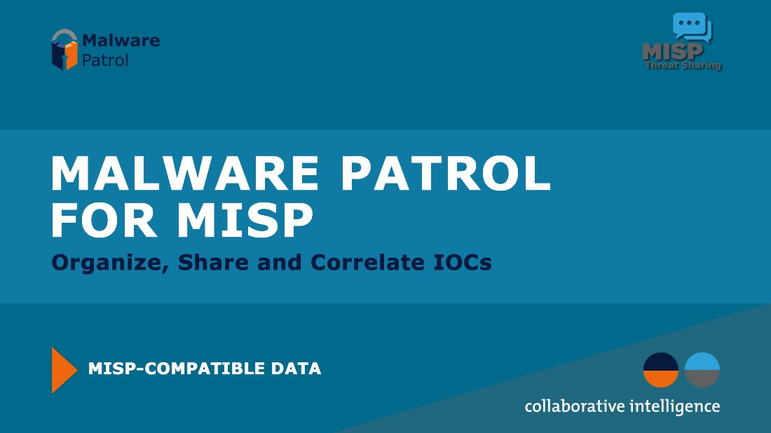 Malware Patrol offers an integration with MISP, the open source threat intelligence platform used for sharing, storing and correlating IOCs. Learn More: malwarepatrol.net/malware-patrol…