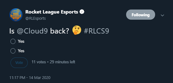 Out Of Context RL Esports (@OutOfContextRLE) on Twitter photo 28/06/2020 18:00:00