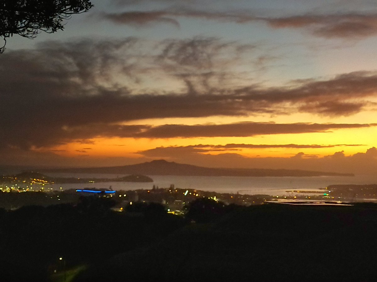 Good morning from the top of Mt Eden, Auckland, NZ