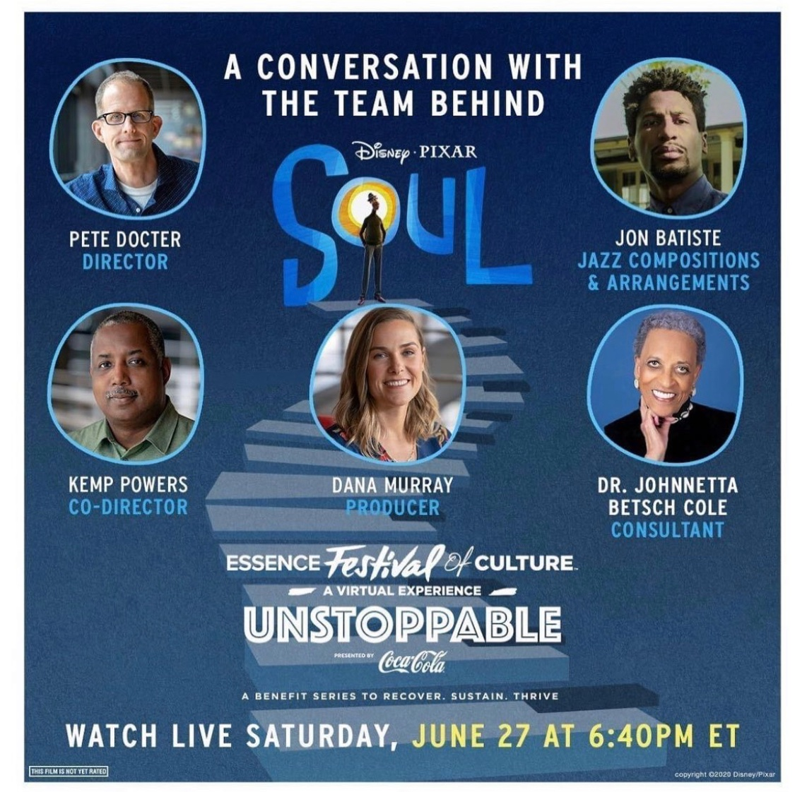 """TODAY: Tune-in to """"Finding Soul"""" a conversation with the team behind #PixarSoul at @essencefest . RSVP now & watch it live here at 6:40 PM EST - bit.ly/EssenceFestSoul"""