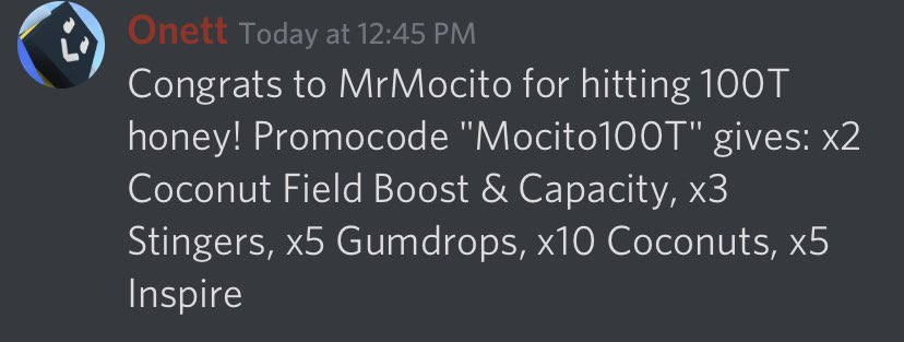 Bee Swarm Leaks On Twitter Congrats To Mrmocito For Hitting 100t