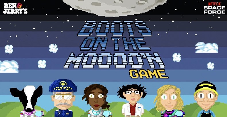 Think you have what it takes to put your boots on the moooo'n? Play the Boots On The Moooo'n game for your chance to win an arcade game prize pack! Each week, the top 10 scores win. Play now: https://t.co/UJ8b11PZd6  @netflix @realspaceforce  Rules: https://t.co/Vq93iTtCw9 https://t.co/zaoALEcpdv