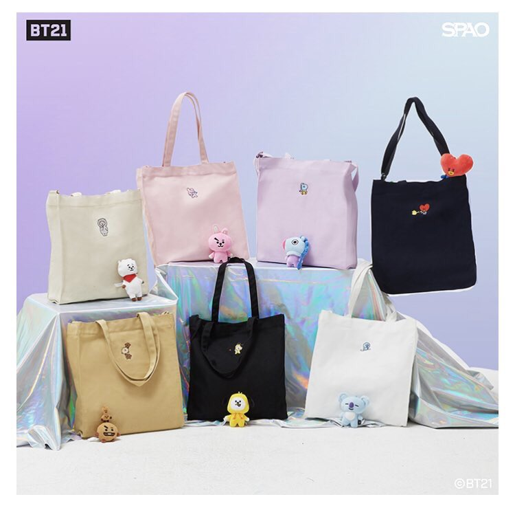 [HELP RT]🔥Give away🔥 🌸SPAO x BT21 Tote Bag 🇲🇾Malaysia only Rules: •Follow and rt •Comment which character u want •tag 3 mutuals/friends ❤️Closing on TODAY 5pm 💜1 Winner 💚Extra free gift: BTS member unofficial photo card🎁