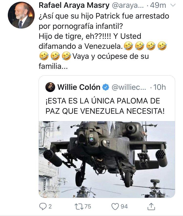 """TROPA irreverente! on Twitter: """"Y mira esta perla! El hijitooo de  @williecolon ???? toda una joyita… """""""
