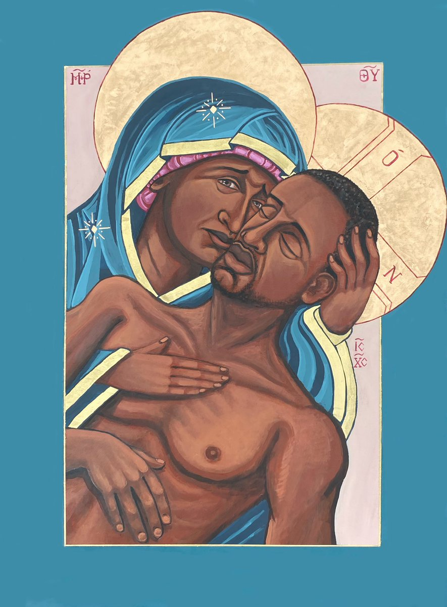 """""""Mama"""" Many voices and prayers have gone into this image. We will be donating 100% of the profits of this icon to local St. Louis BLM organizations. #blacklivesmatter"""