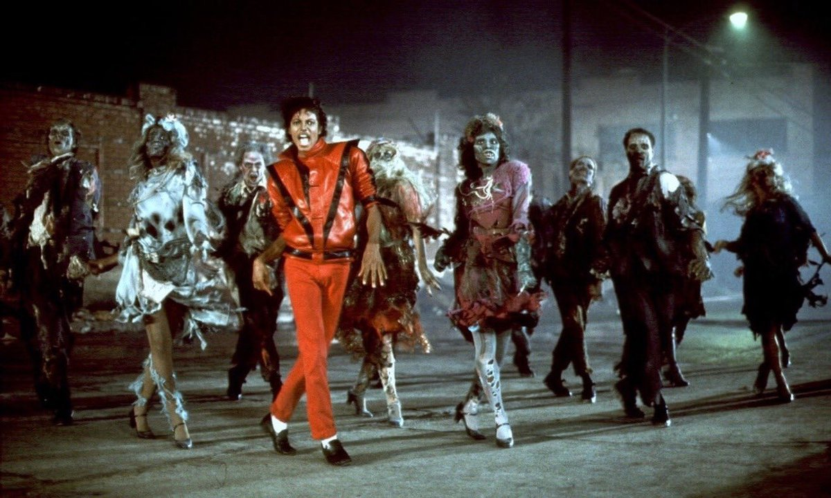 """WEIRDLAND TV en Twitter: """"Michael Jackson's THRILLER video, 1983. The video  was such a big event. I remember grownups asking each other if they had  seen it—that big. Image 3 shows the"""