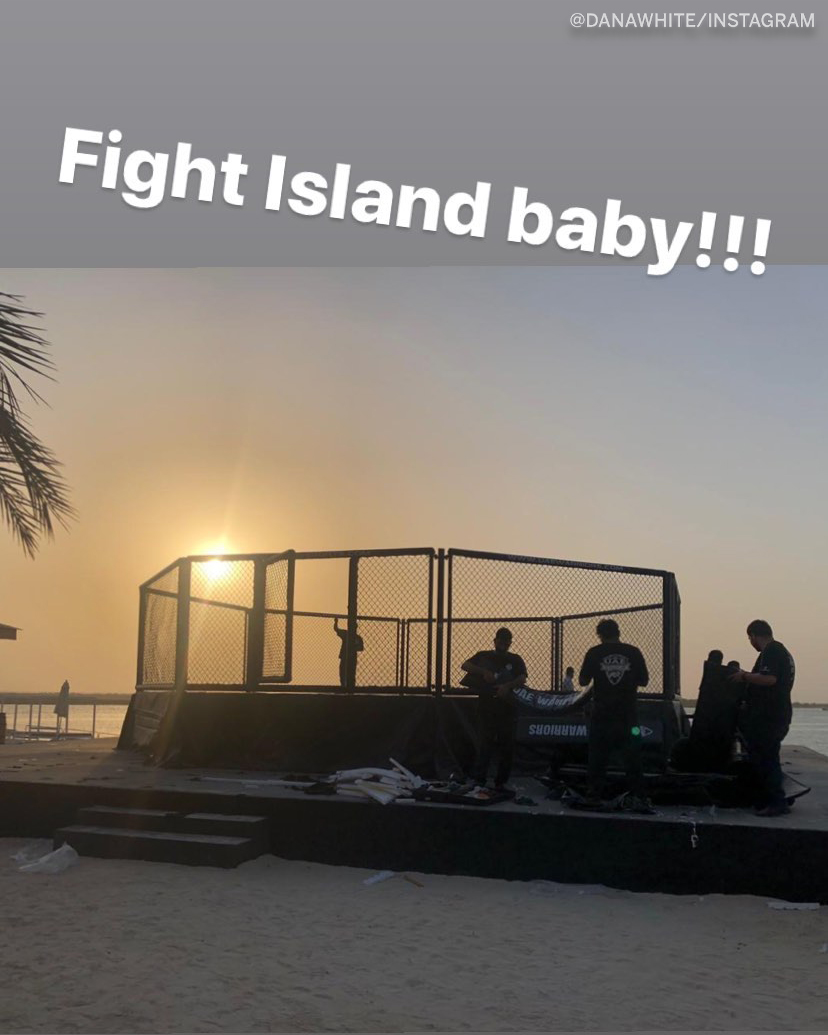 Dana White shared the first image of an Octagon being set up on the beach of Fight Island.  (via @danawhite) https://t.co/dGXPAQOnx3