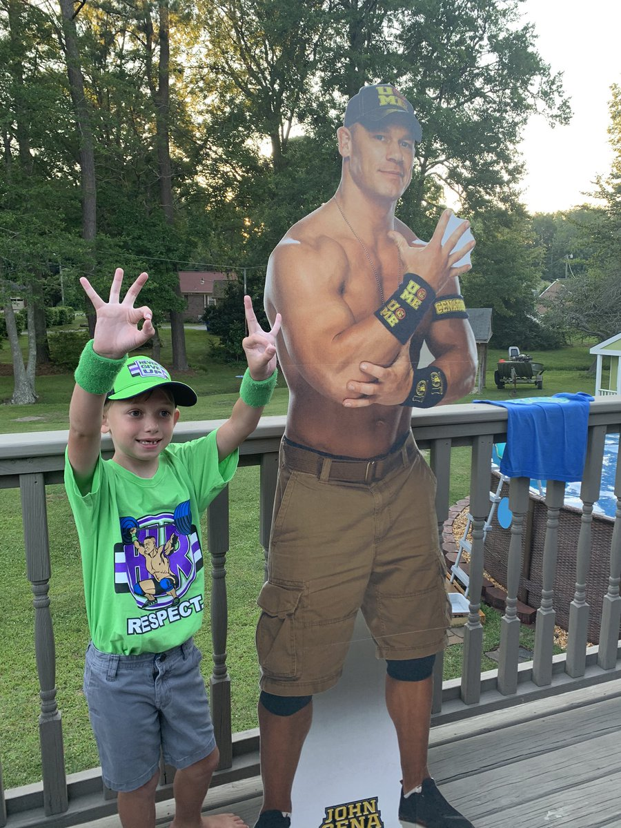 Sending a huge birthday shoutout to my nephew Nick, the biggest John Cena fan of all!!! @JohnCena