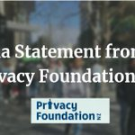 Image for the Tweet beginning: Privacy Foundation welcomes new privacy
