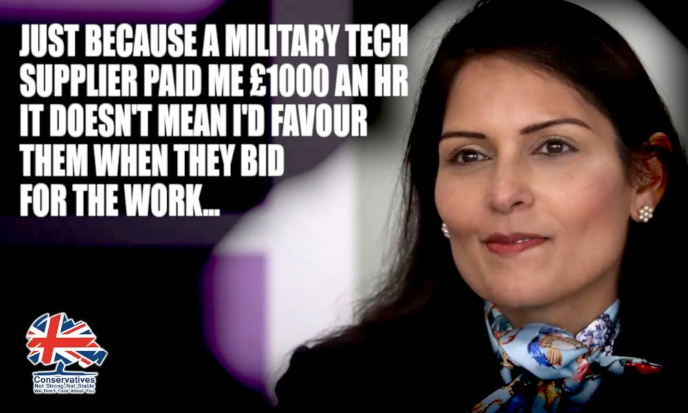Home Secretary Priti Patel was paid £1000ph by US military tech supplier Viasat. When she took the job, she didnt seek approval - breaking the Ministerial Code again! Viasat then bid for a £6bn defence contract - massive conflict of interest? #Marr #Ridge #DodgyTories