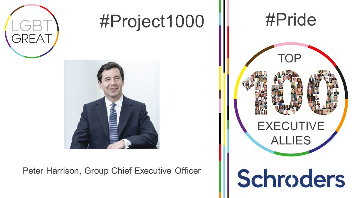 We're proud to see Peter Harrison, Amy Cho, and Garth Taljard in the Top 100 Executive Allies #Pride initiative. Visibility matters, so let's all SchOUT with #Pride2020, whether we are role models or allies. Read more at @LGBTGreat https://t.co/qdwnIg9dO6  #Project1000 #YouMeUsWe https://t.co/VjtRcecLD0
