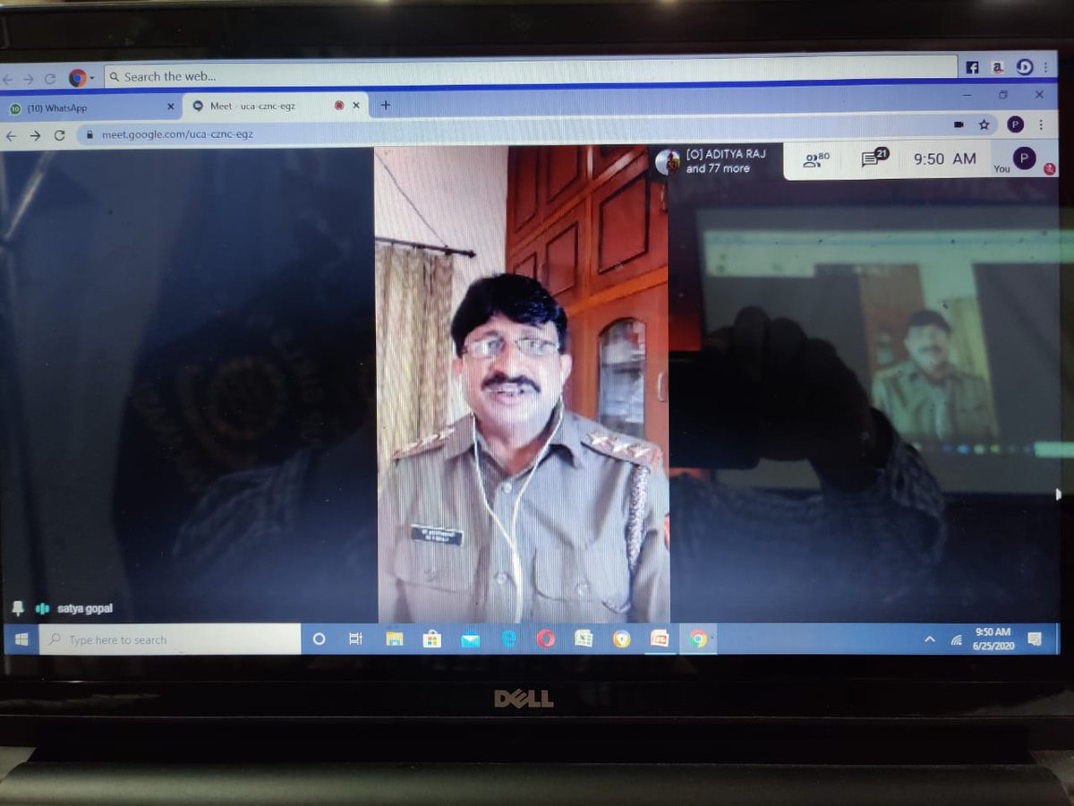 Ek Bharat Shreshtha Bharat Saptah Webinar for Odisha and UP Dtes witnessed address by Commodore Shailendra Singh , NSM, DDG, Odisha Dte ,presentation of lecture on Promoting Mental health in Covid 19 by Capt Satyagopljee, ANO of 89 UP Bn NCC and sharing knowledge on Culture.