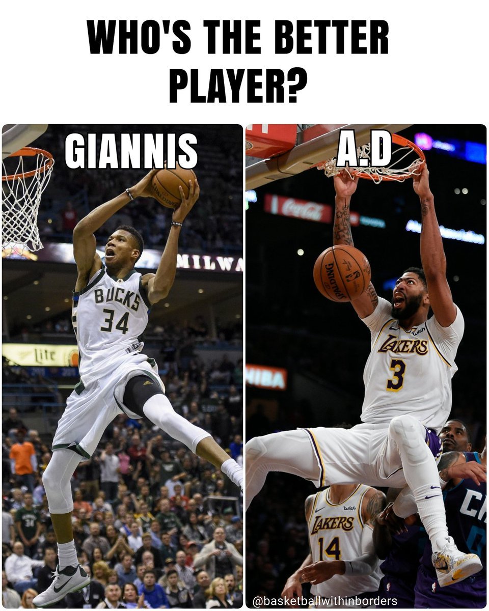 #Giannis or #AD, who's the better player? #NBADebates https://t.co/PIe1v0KzEP