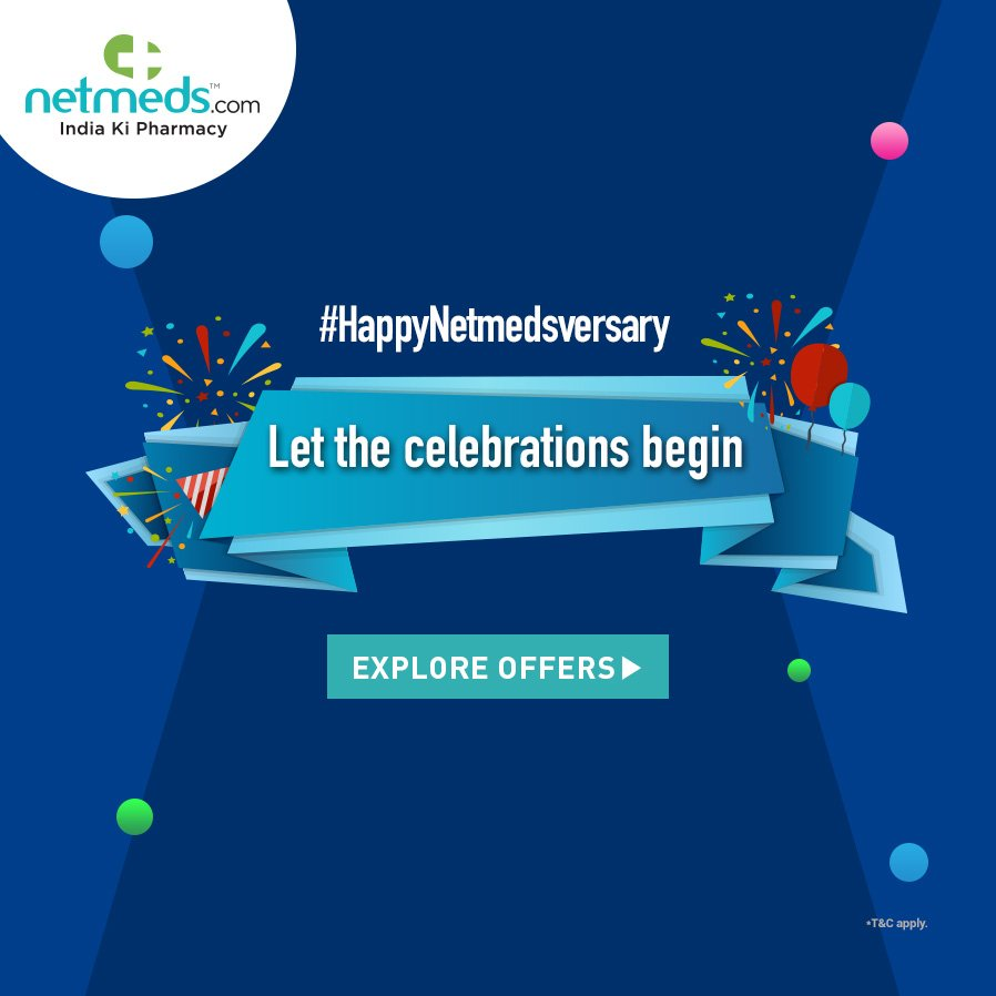 Hi-5, We just turned 5! 🎉 🎉 🎉 🎉  Thank you for being a part of our journey. Happy Netmedsversary! 💐  #NetmedsTurns5 https://t.co/ZdVcviWVjM