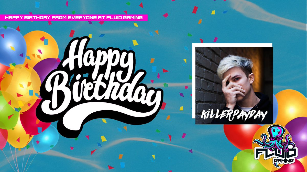 Want to wish our #VALORANT Manager @killerpayday a huge Happy Birthday! Glad to have you part of the Fluid Family! #RisingTide
