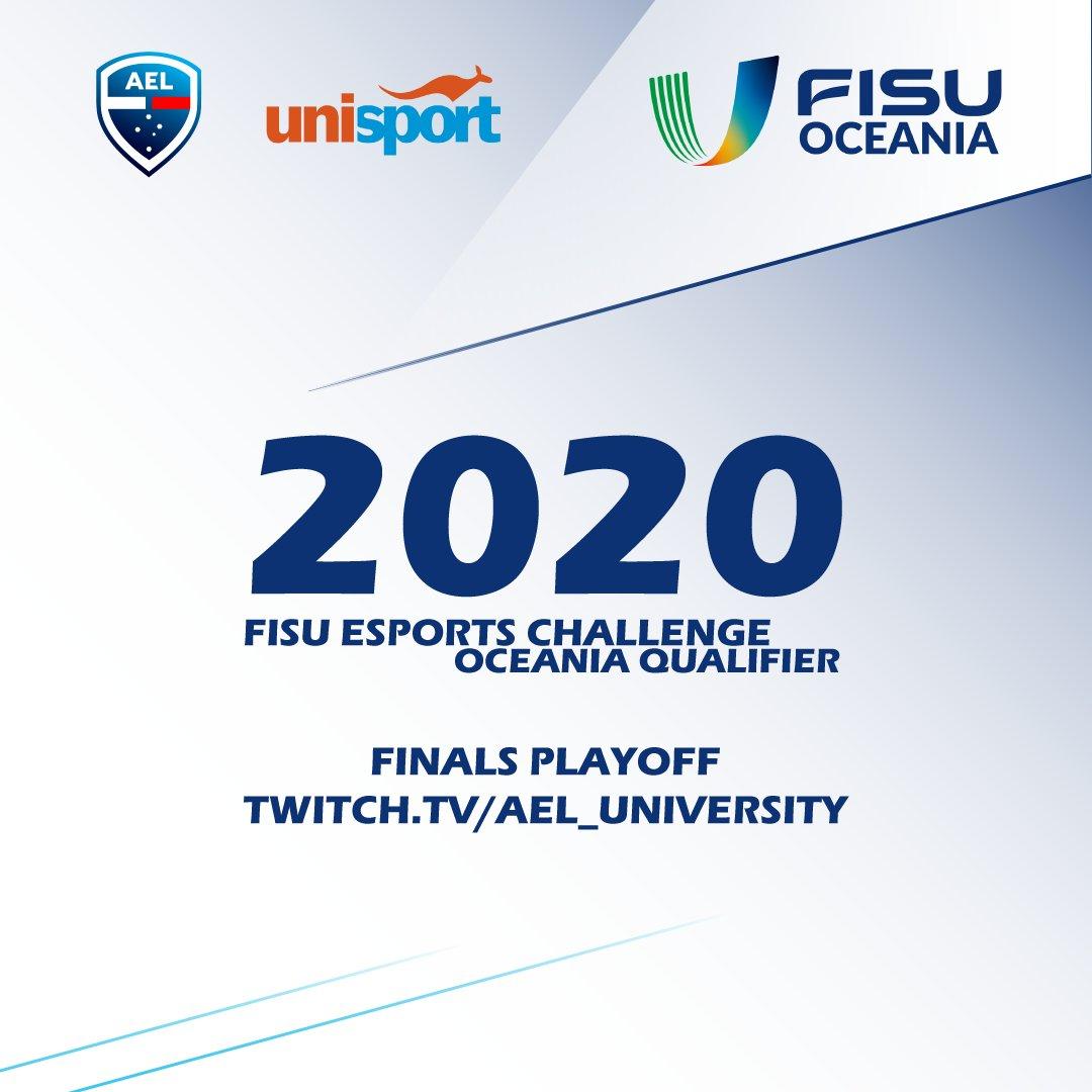 Catch the finals playoffs for the 2020 @FISU Esports Challenge Football - @FISUOceania Qualifier!  ⌚️Live 3:30pm AEST 📺https://t.co/q06Jjz9xyX 🎙️@alexm4stro   #esports #FIFA20 #FISU #gaming https://t.co/V5yX0A7DEA