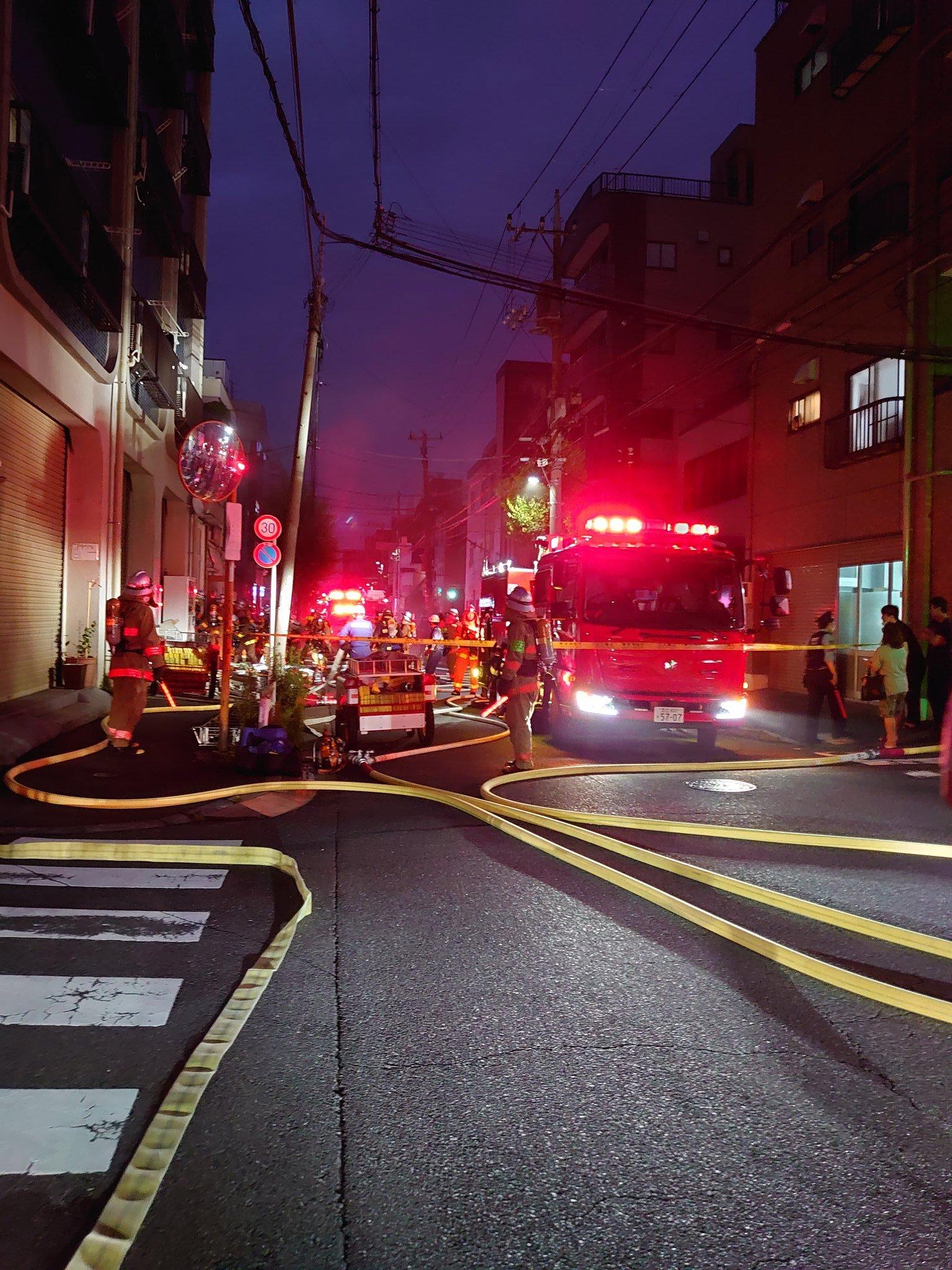 墨田区の建物火災の画像