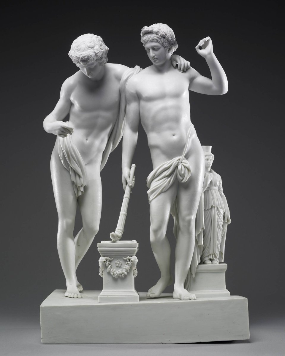 """I am fascinated by this little 1780s porcelain group, which, beneath its unimpeachable credentials as fine art copied from a classical original, seethes with queerness."" – LGBTQ tour volunteer Chris Weston shares this sculpture of Castor & Pollux from classical myth for #Pride"