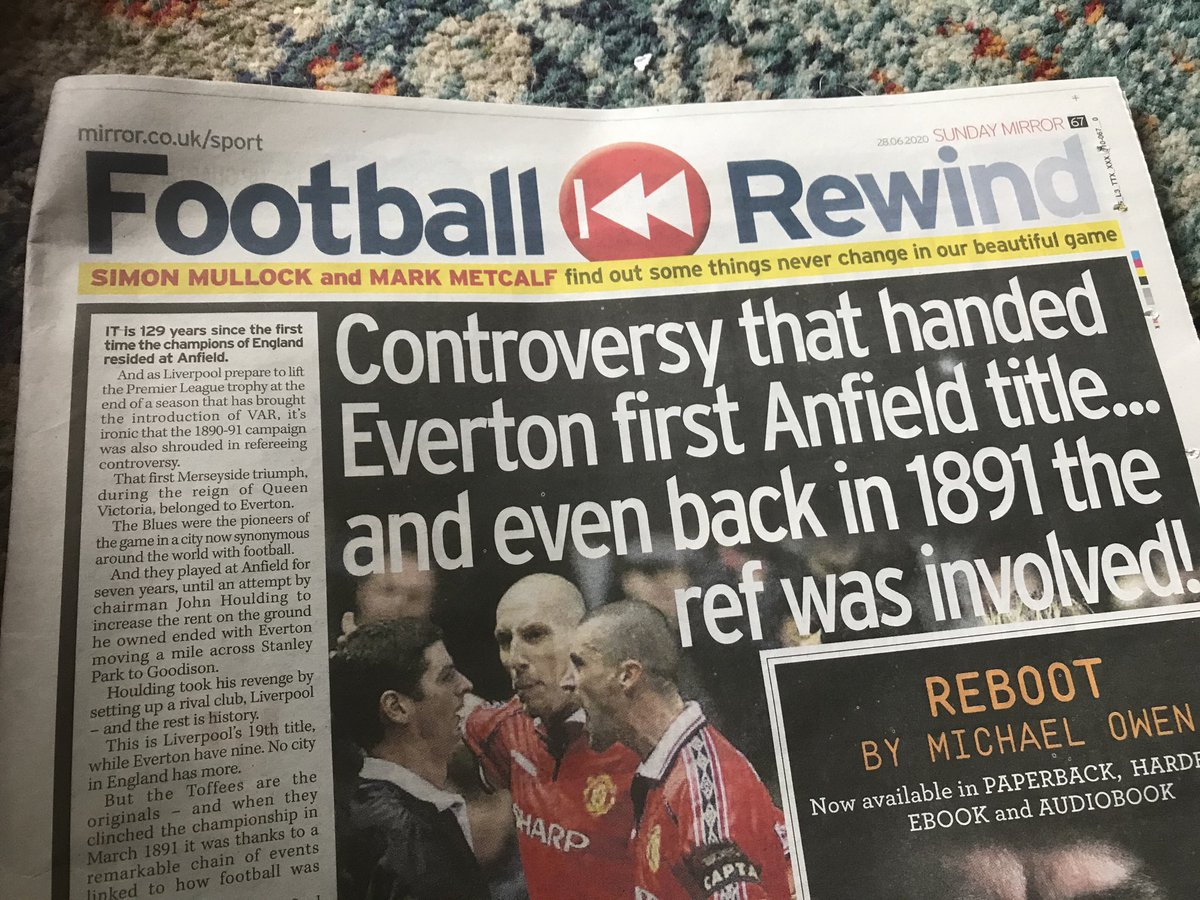 Glad to have another football history article with Simon Mullock in the Sunday Mirror today. https://t.co/0Yh7yxLQgR