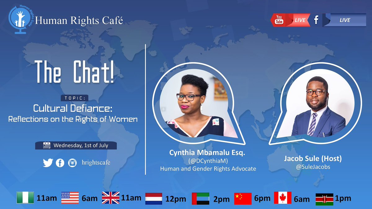 Let's talk #HumanRights on Wednesday, 1st of July, 2020. https://t.co/R7QmGeSEDS