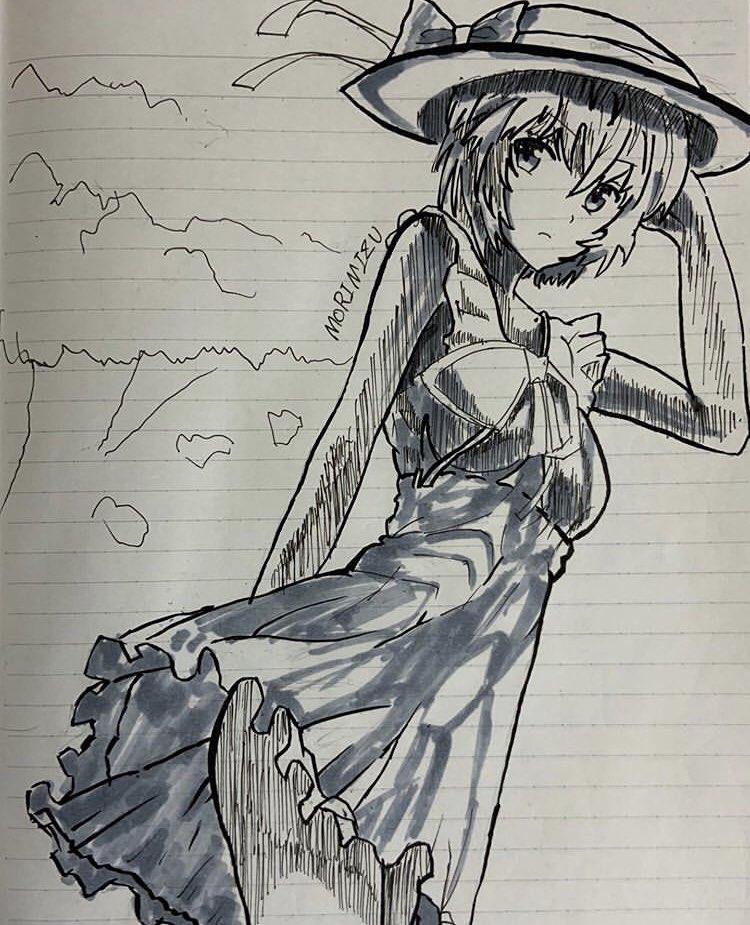 test ツイッターメディア - 勉強の間にノートに筆ペンで綾波レイを描くもりみずくん#エヴァンゲリオン https://t.co/RBuVwoGLNq