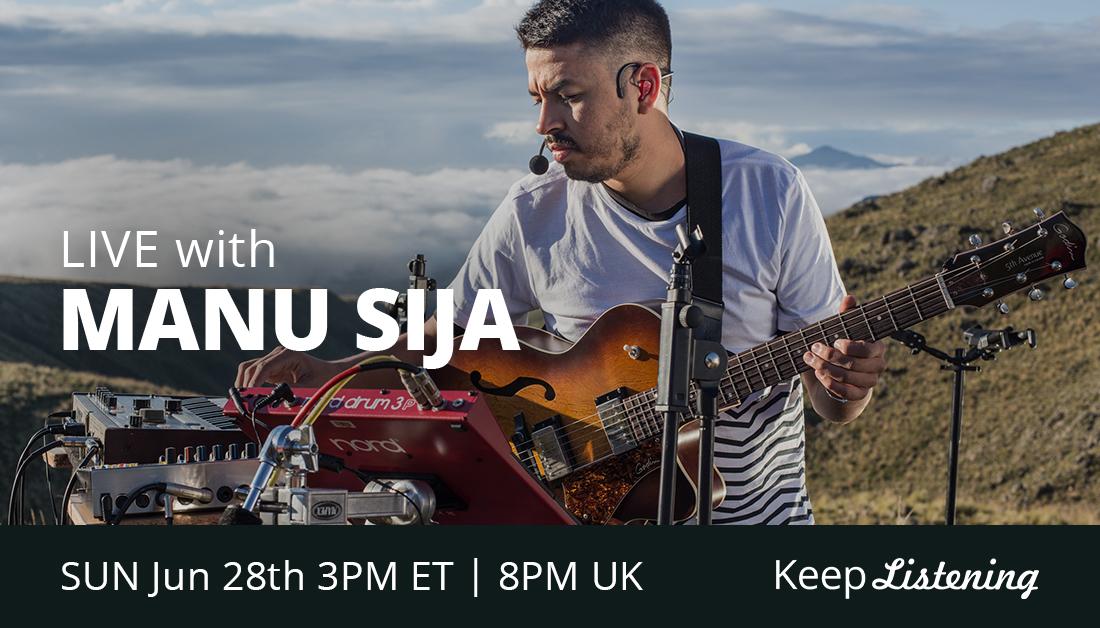 Argentinian multi-instrumentalist, @ManuSija blends jazzy elements with folkloric roots. Catch this Sofar Alumni's #keeplistening livestream Sunday at 3pm ET // 8pm UK: https://t.co/frgJ5EBPvE https://t.co/yqQoa1U6sP