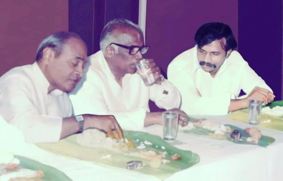 On the occasion of centenary celebrations of our Pride and Ex Prime minister late Sri P.V. Narasimha Rao garu I'm sharing this pic. My grandfather Late Sri. Kona Prabhakar Rao garu and Late Sri. Y.S. Rajashekhar Reddy garu are in the pic too. They all shared a great bonding 🙏🙏 https://t.co/V1eaB3op1U