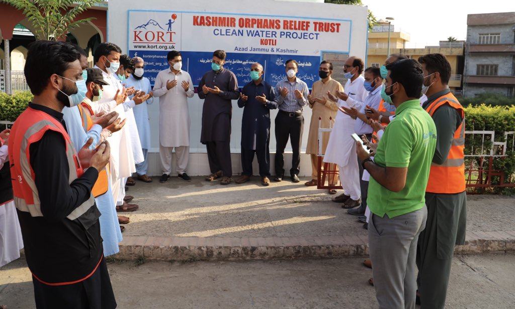 """KORT Clean Water Project Update: Alhamdullilah, Chairman KORT has inaugurated another WATER FILTRATION PLANT today at DHQ Hospital Kotli under """"KORT Clean Water Project"""". @workingforcause"""