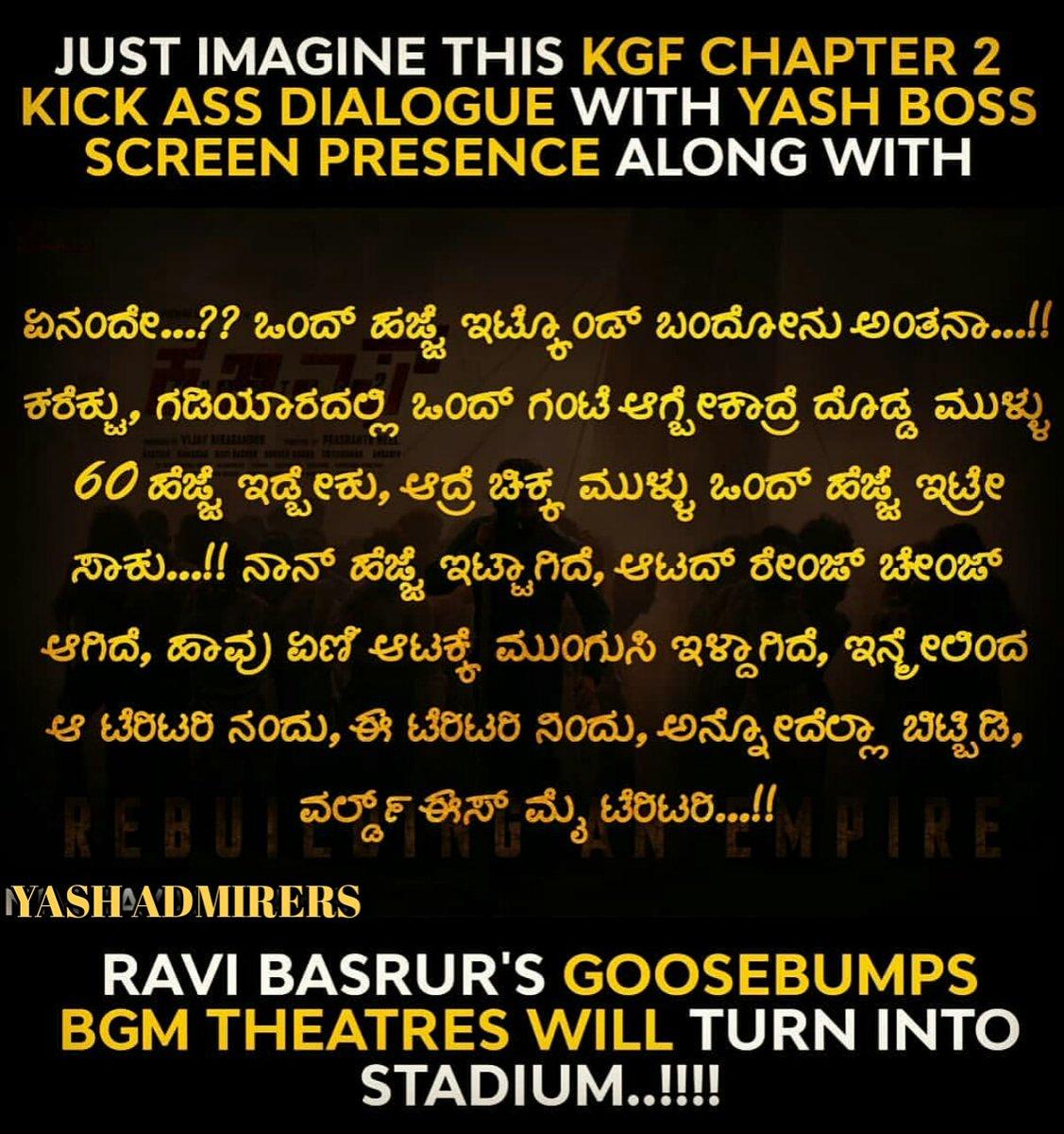 #KGFChapter2 #KGF #KGF2 #kgf2firstlook #rockybhai #kannada #hindhi #Yash #tamil #telgu #Karnataka #Maharashtra #Hollywood #Tollywood #iamradhikapandit #ayrayashpic.twitter.com/DAscmOuazU