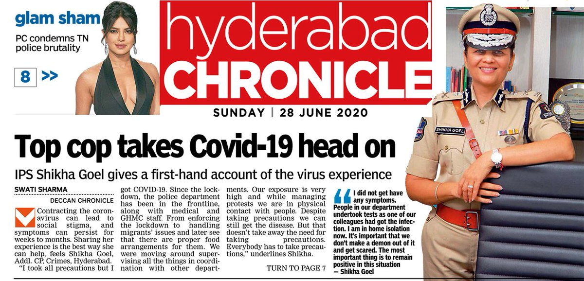 #IndiaFightsCorona...If you test covid positive, the most important thing is to #BePositive as  'mind is the master of the body' @CPHydCity  @hydcitypolice @CyberCrimeshyd @HYDTP @hydsheteam @bharosahyd @TelanganaDGP @mirchishezzi @MidnightReportr https://t.co/ImLwqD1Hay